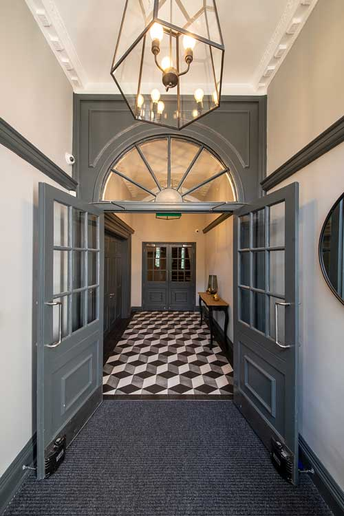 boutique workplace company entrance hall soho square
