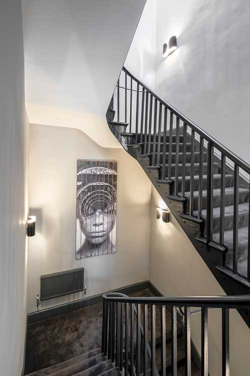 boutique workplace company stairwell soho square