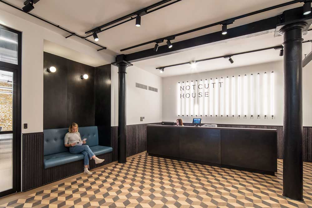 notcutt house reception area redesigned london uk
