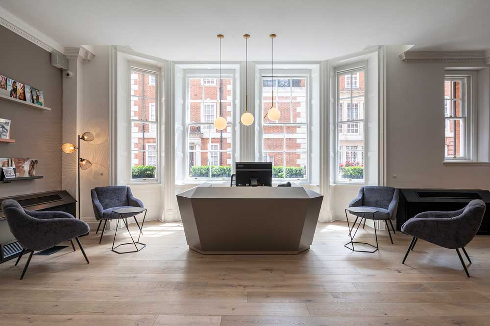 create interior design project at The Boutique Workplace Company, Green Street, London